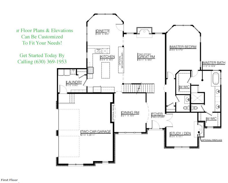 The Danielle floor plan, floor 1