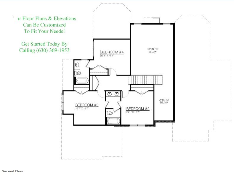 The Danielle floor plan, floor 2
