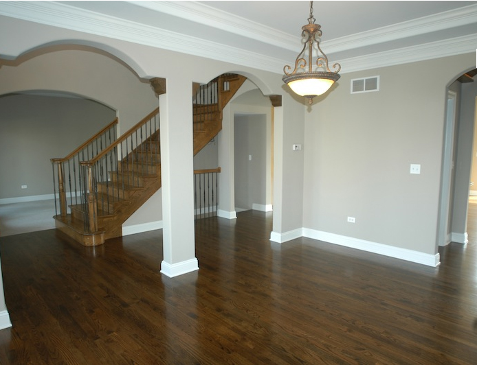 Image of custom Leanne floorplan entryway and living room