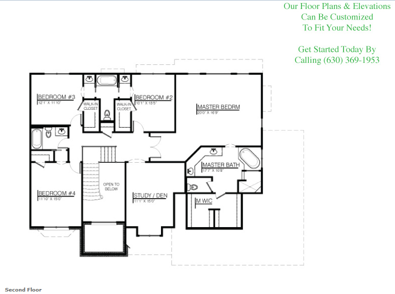 The Leanne floor plan, floor 2