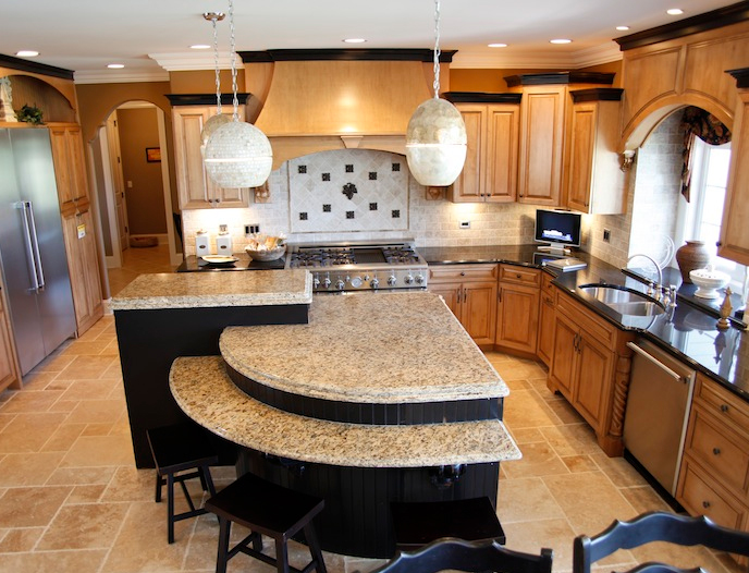 Luxury custom kitchen, Wyndermere floorplan, Stewart Ridge, Plainfield, IL