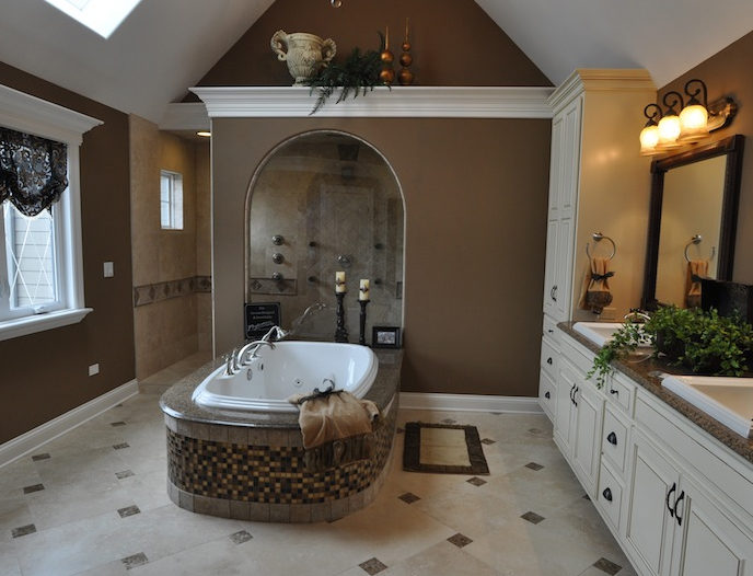 Luxury custom master bathroom, Wyndermere floorplan, Stewart Ridge, Plainfield, IL