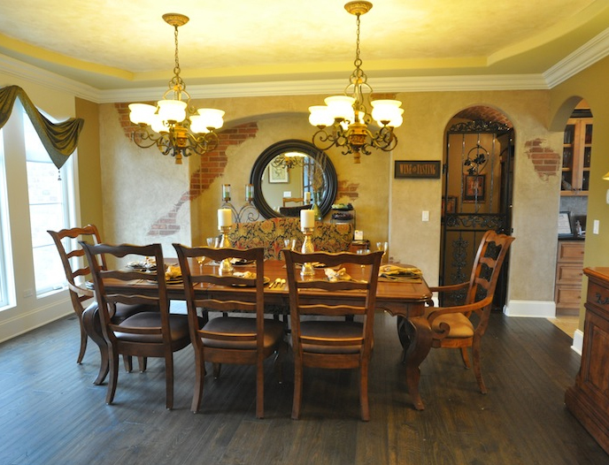 Dining Room, Wyndermere custom floorplan, Stewart Ridge, Plainfield, IL