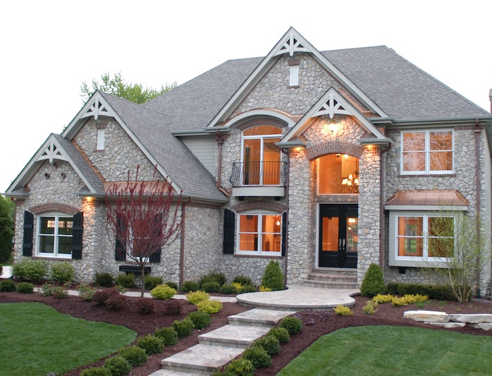 Front Exterior view of a home build using the Wyndermere custom floorplan