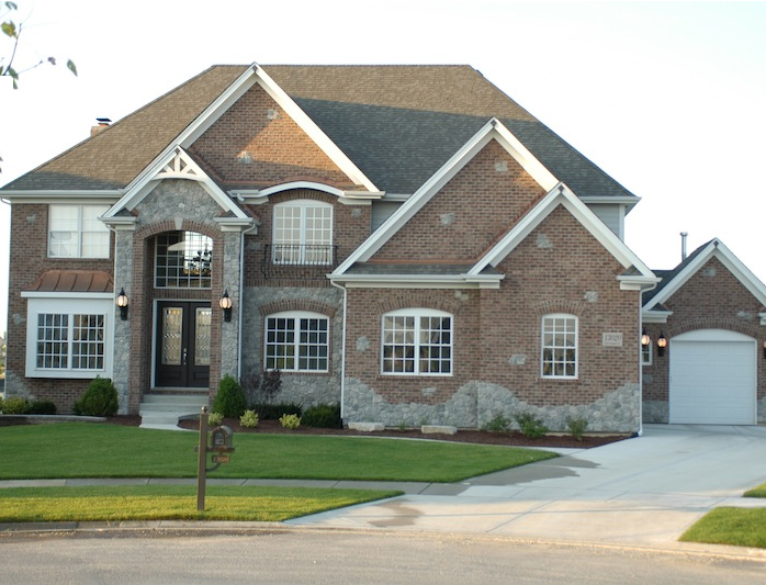A third alternative exterior for the Wyndermere custom floorplan, Plainfield, IL