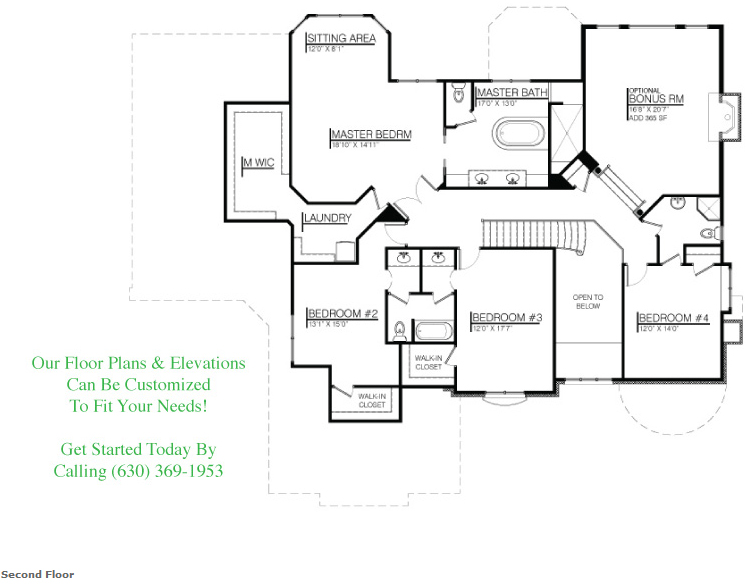 The Wyndermere luxury custom floorplan, floor 2