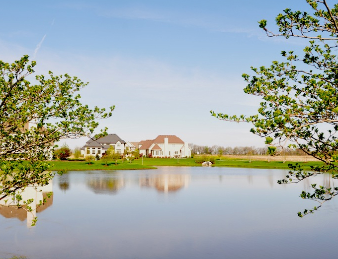Scenic view of the Stewart Ridge community in Plainfield, IL