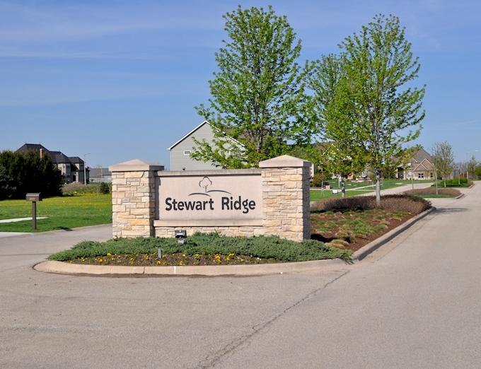 Entrance to Stewart Ridge community in Plainfield, IL