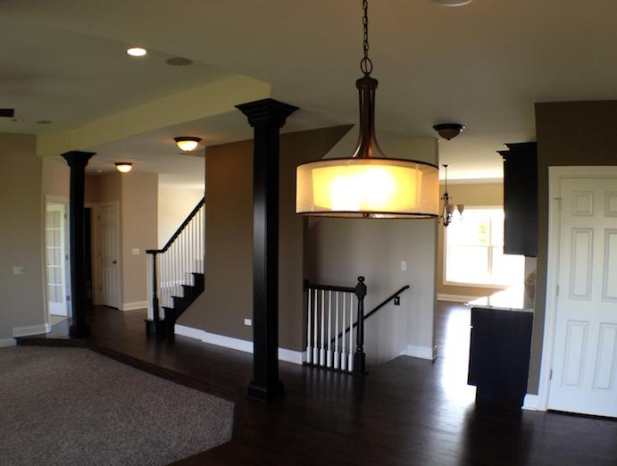 Great room in the Karson custom floorplan, Stewart Ridge, Plainfield, IL