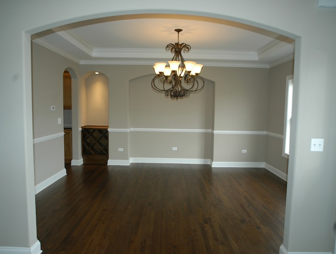 View of the dining room of the Karson custom floorplan