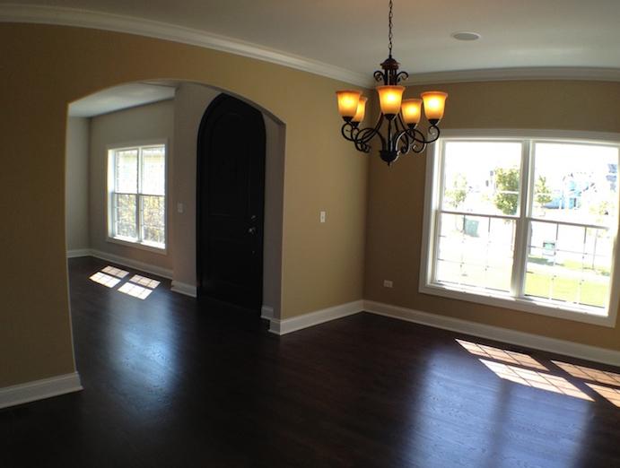 Custom living and dining room, Karson floorplan, Stewart Ridge, Plainfield, IL