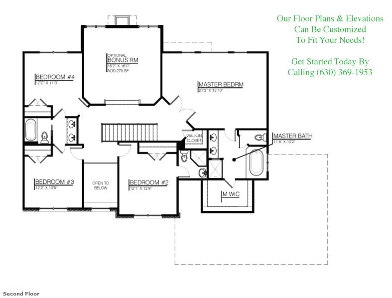 Image of the Karson custom floorplan, floor 2