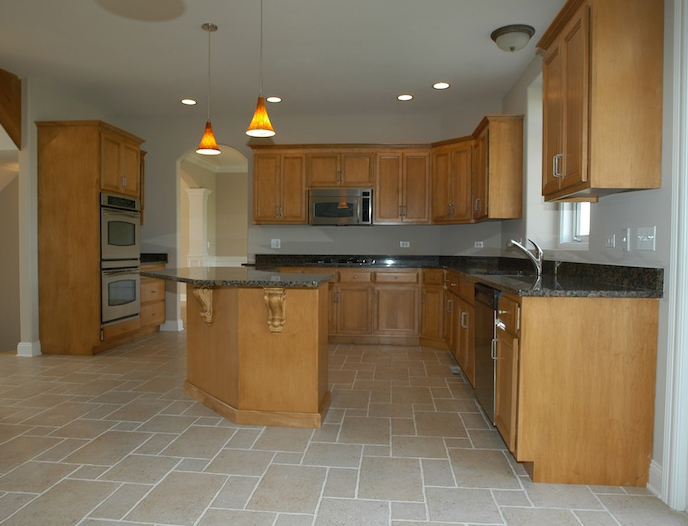 Dinette and Kitchen in Alana custom home floor plan, Stewart Ridge, Plainfield, IL