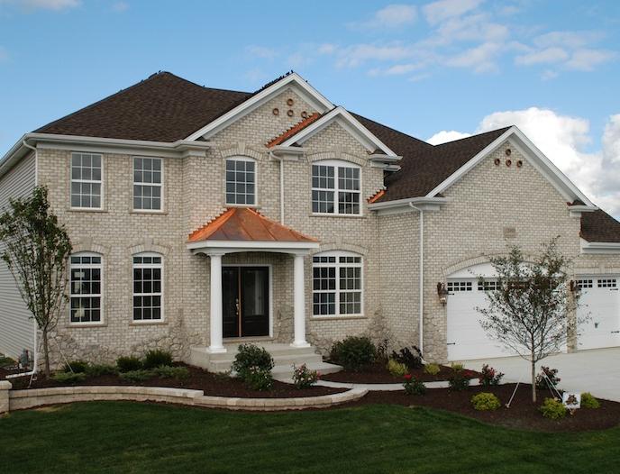 Alternate exterior for a custom home built using the Alana floorplan