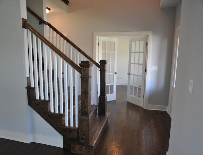 Entryway in the Alana custom home floor plan, Stewart Ridge, Plainfield, IL