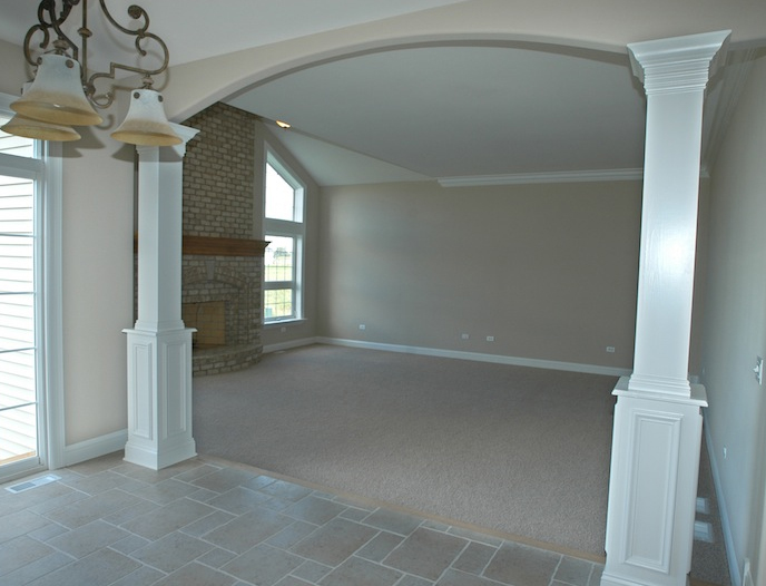Great Room in the Alana custom home floorplan, Stewart Ridge, Plainfield, IL
