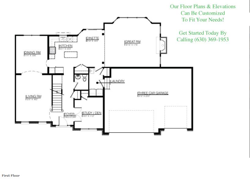 The Alana floor plan, floor 1