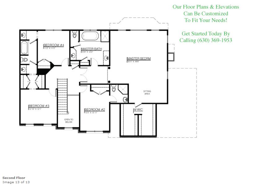 The Alana floor plan, floor 2