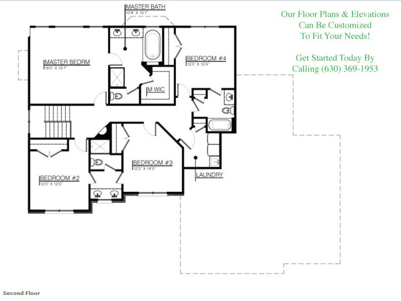 The Amanda floor plan, floor 2