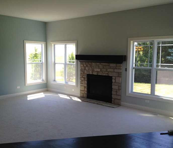 Great Room in the Bella custom floor plan at Stewart Ridge in Plainfield, IL