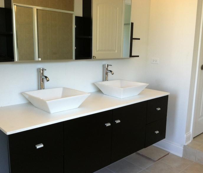 Custom master bath in the Bella floor plan from DJK Custom Homes