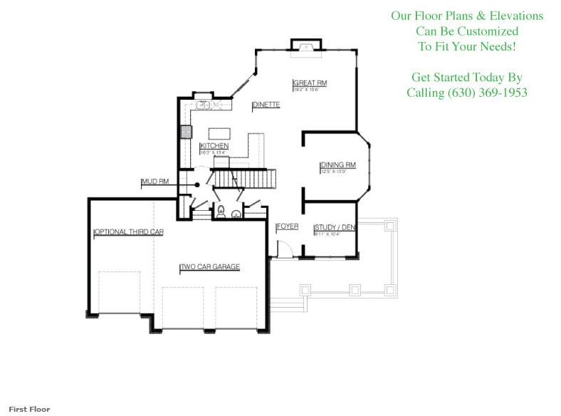 The Bella floor plan, Floor 1