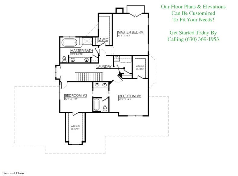 The Bella floor plan, floor 2