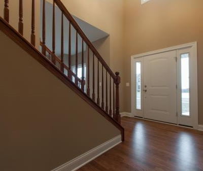 The entryway in a house built with the Brayden floor plan