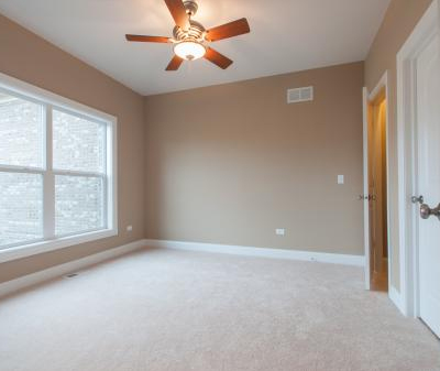 The third bedroom in a house built with the Brayden floor plan