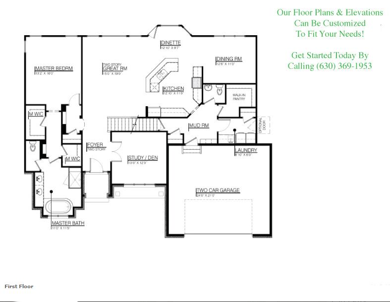 The Dylan floor plan, floor 1