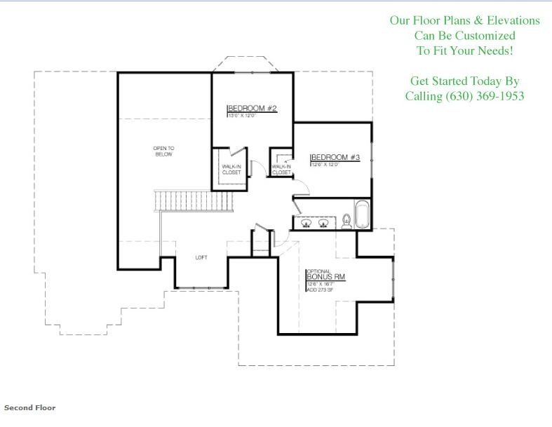 The Dylan floor plan, floor 2