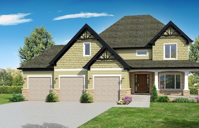 Alternate exterior for a house built using the Jasmine floorplan from DJK Custom Homes