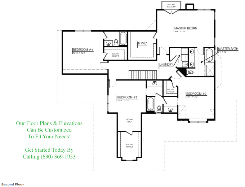 The Jenna floorplan, Floor 2