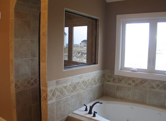 Bathtub in the master bathroom, Jonathan I floorplan from DJK Custom Homes