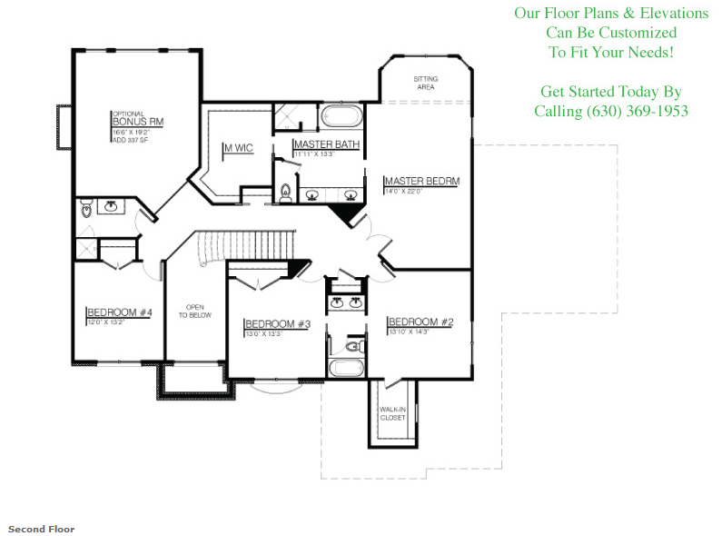 The Jonathan II floorplan, Floor 2