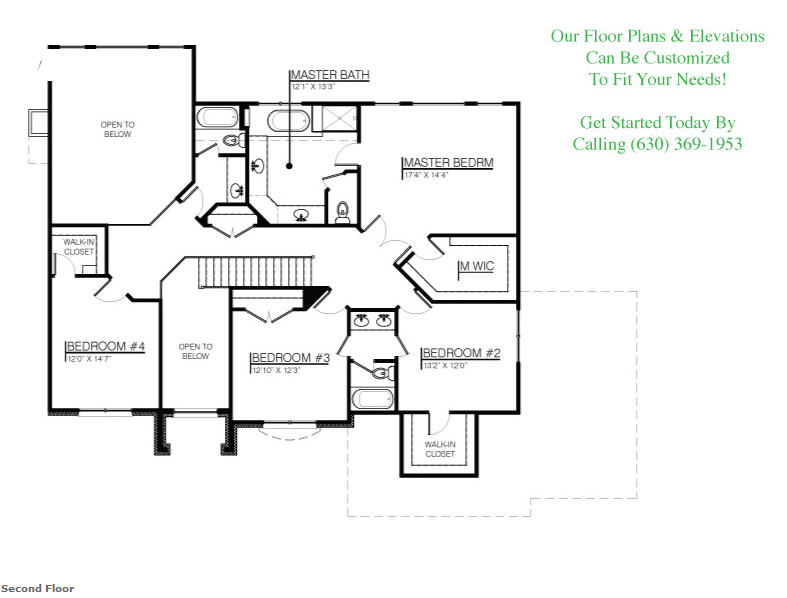 The Jonathan I floorplan, floor 2