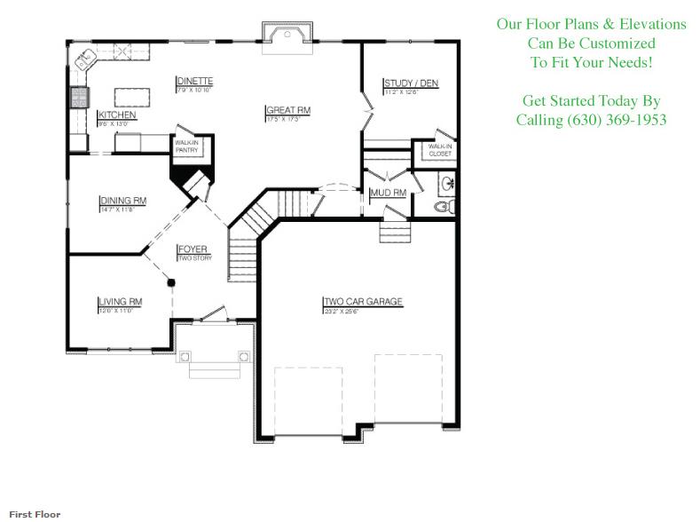 The Joshua custom floorplan, Floor 1
