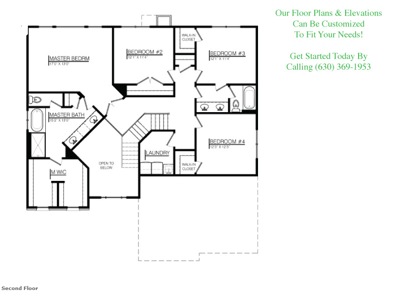 The Joshua custom floorplan, Floor 2
