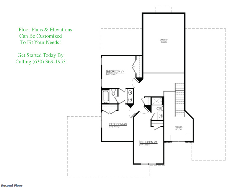 The Kailey floor plan, Floor 2