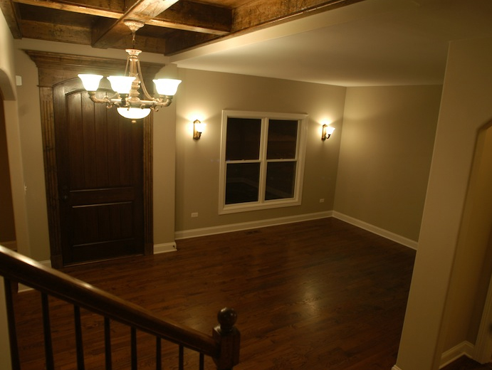 Entryway in a house built using the Karson II floor plan