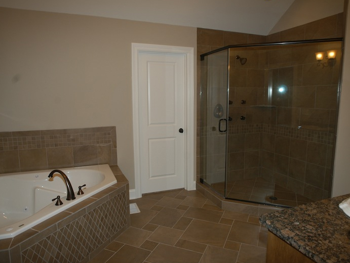 View of the master bathroom in the Karson II floor plan