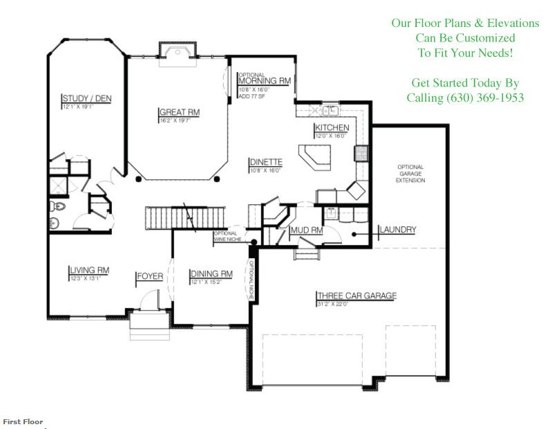 The Karson II floor plan, floor 1