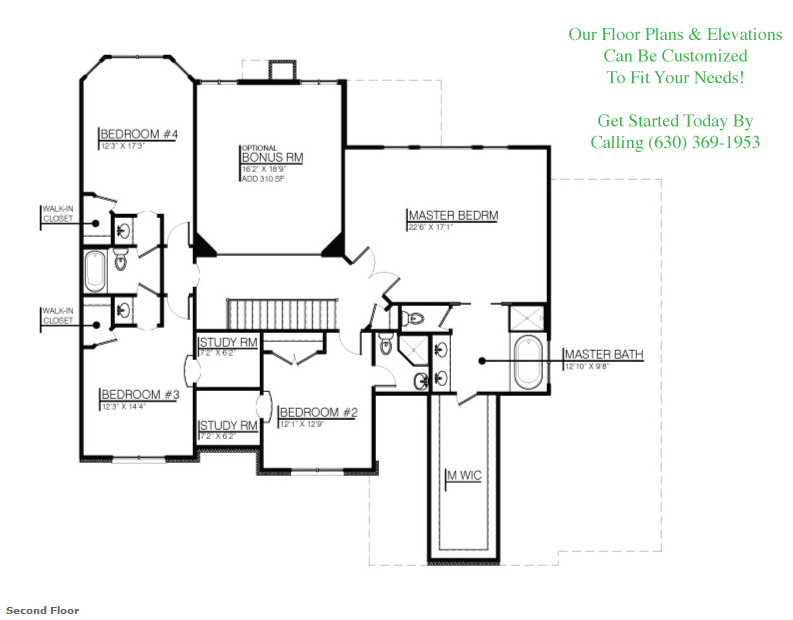 The Karson II floor plan, floor 2
