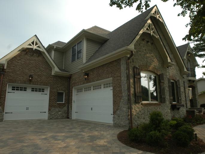 Exterior view of a custom home built using the Kayden floorplan, Plainfield, IL