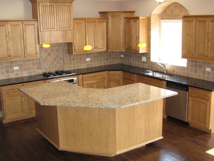 Kitchen in the custom Kayden floorplan, Plainfield, IL