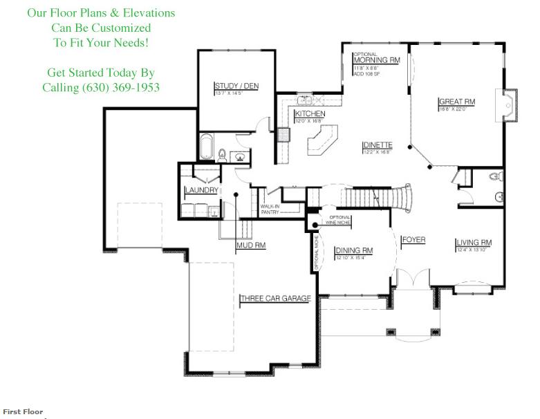 Kayden custom floorplan, floor 1