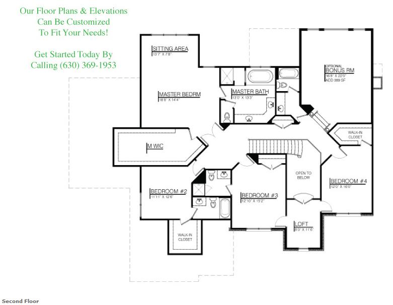 Kayden custom floorplan, floor 2