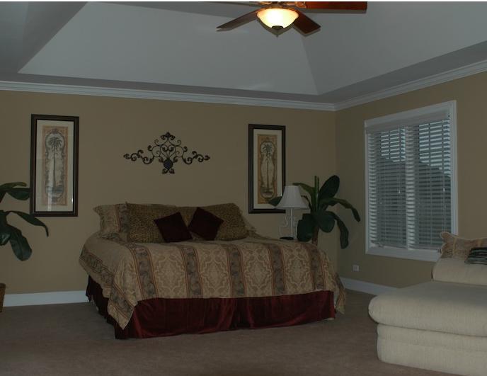 Master bedroom in the Kelsie floor plan, Stewart Ridge, Plainfield, IL