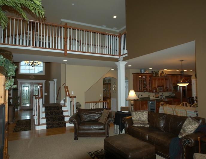 Great Room in the Kelsie floor plan by DJK Custom Homes