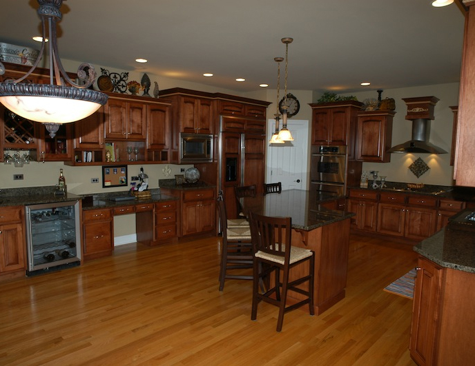 Kitchen in the Kelsie floor plan from DJK Custom Homes